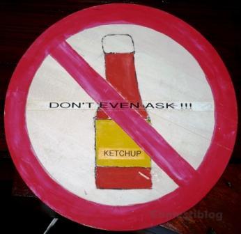No Ketchup Sign sm