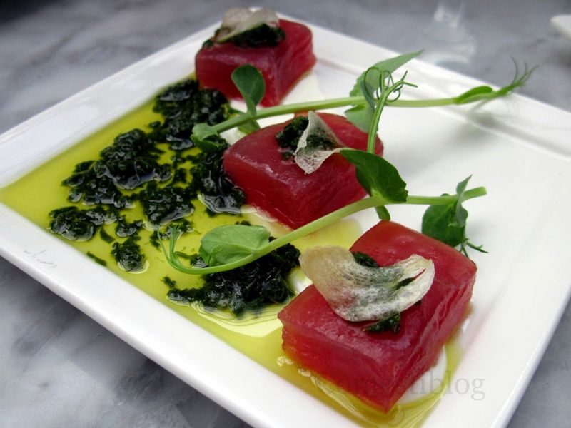 Yellowfin Tuna Crudo plate