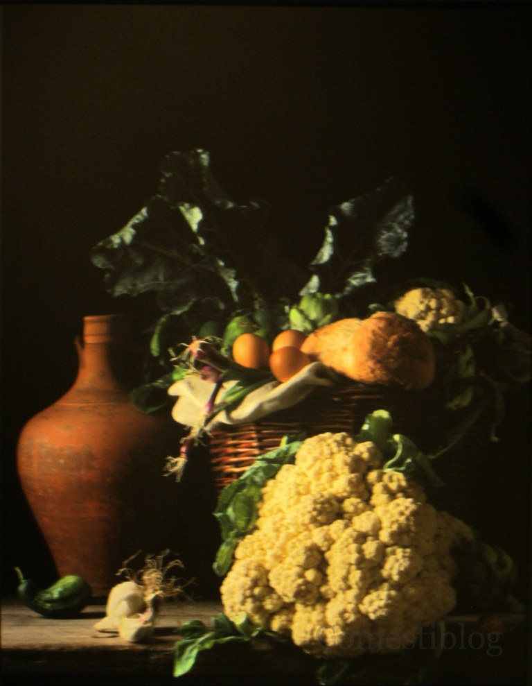 Still Life with Cauliflower and Bread
