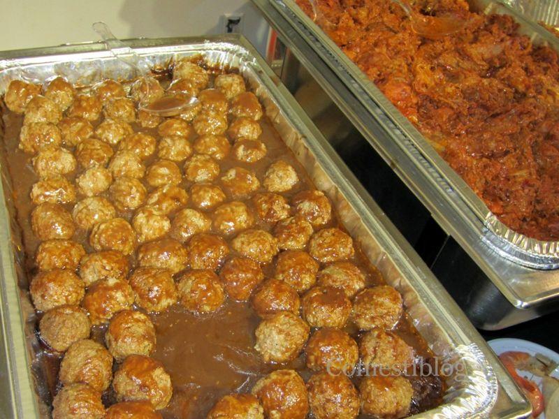 Neir's Tavern Swedish Meatballs and Pulled Pork