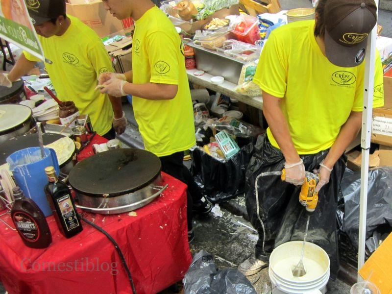 Crêpe preparation
